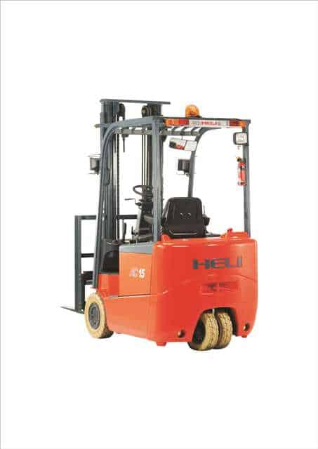 heli 3 wheel electric forklift