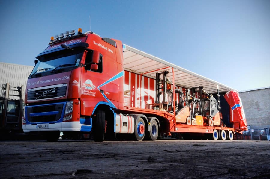 Forklift transport from Scot truck forklifts